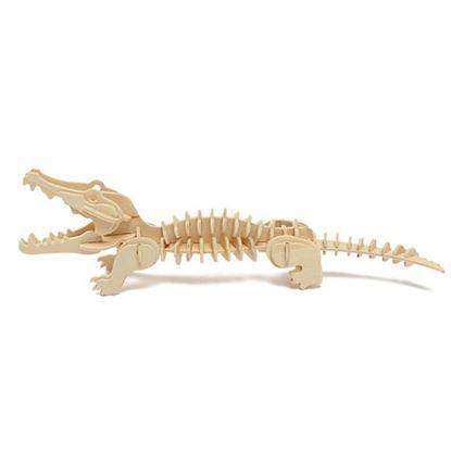 Obrázek 3D puzzle - krokodýl