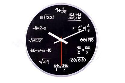 Obrázek Matematické hodiny - černé