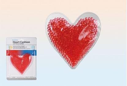 Obrázek Polštářek ve tvaru srdce s thermo gelovými kuličkami