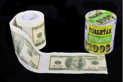 Obrázek Toaletní papír - 100 Dolarovka
