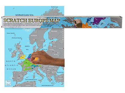 Obrázek Stírací mapa Evropy