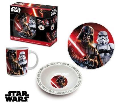 Obrázek 3dílná porcelánová souprava Star Wars