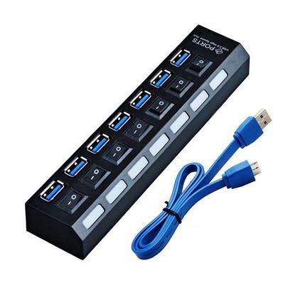 Obrázek Mini USB Hub 3.0 se 7 porty