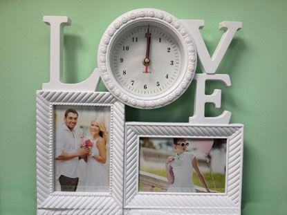 Obrázek Fotorámeček LOVE s hodinami