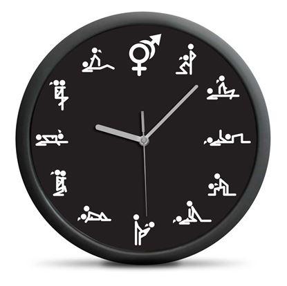 Obrázek Nástěnné hodiny kamasútra