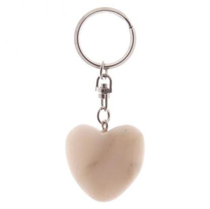 Obrázek Klíčenka - mramorové srdce