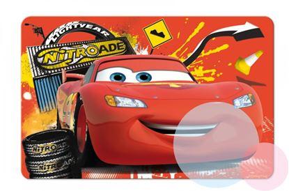 Obrázek 3D podložka Cars - červená