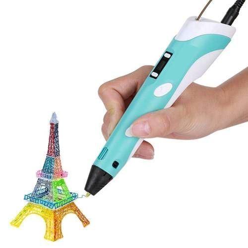 Obrázek z 3D pero s LCD displejem - modré