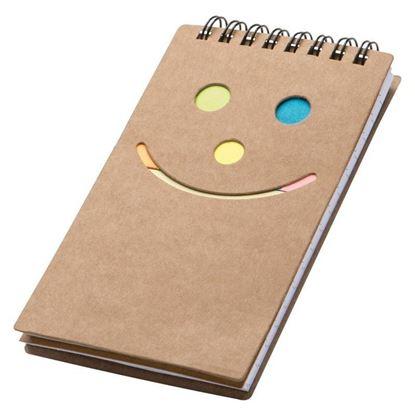 Obrázek Kroužkový bloček s lepíky - smajlík