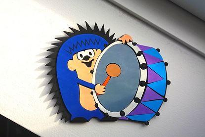 Obrázek Dekorační samolepka na zeď - ježek