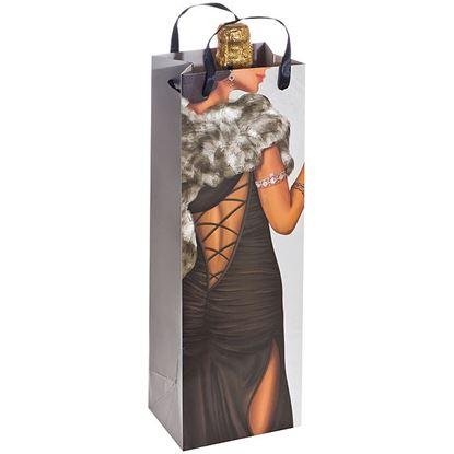 Obrázek Dárková taška na víno - žena