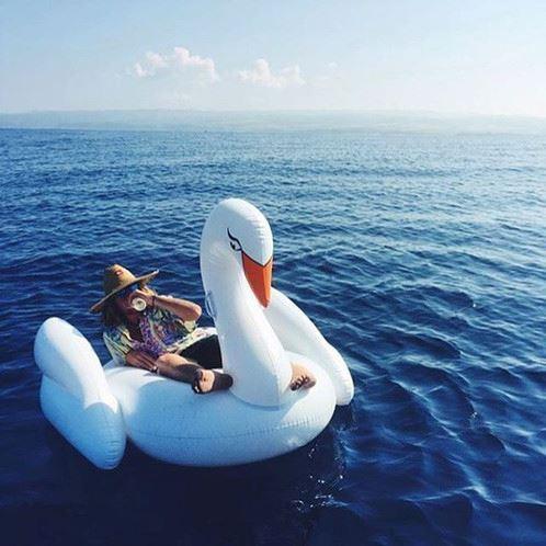 Obrázek z Nafukovací lehátko Bílá labuť