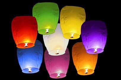 Obrázek Lampiony štěstí 10 ks mix barev