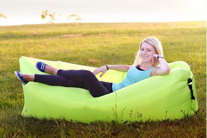Obrázek z Nafukovací vak Lazy bag jednovrstvý - zelený