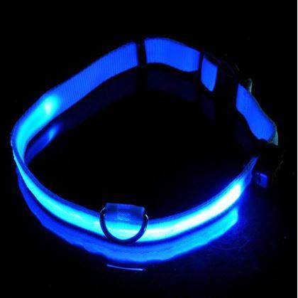 Obrázek z Svítící obojek - modrý S