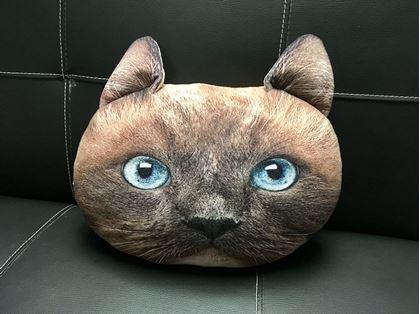 Obrázek z Polštář v designu kočky - hnědý