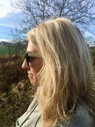 Obrázek Dřevěné sluneční brýle - černé