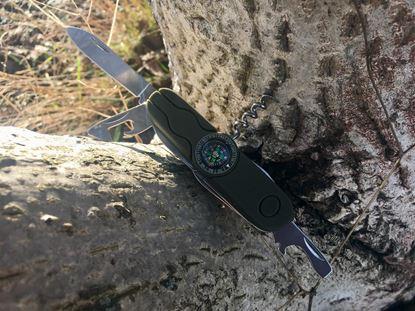 Obrázek Svítící kapesní nůž s kompasem