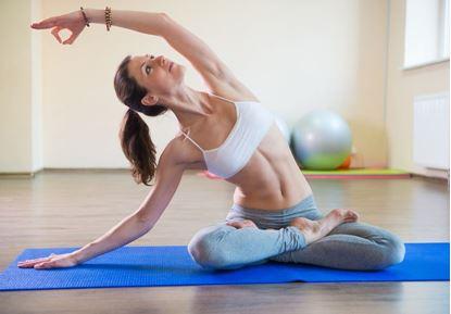 Obrázek Podložka na jógu - modrá