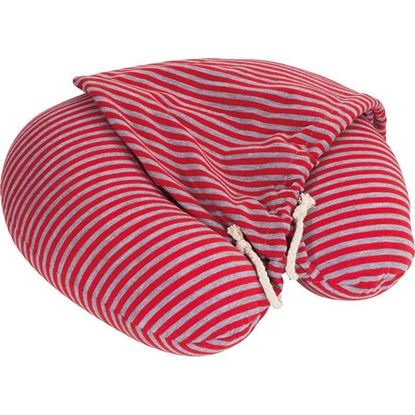Obrázek Cestovní polštář s kapucí - červený