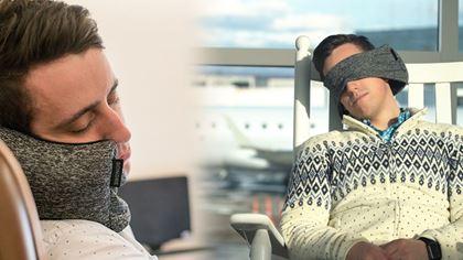 Obrázek z Cestovní polštář s maskou na oči