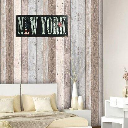Obrázek Dřevěná cedule New York