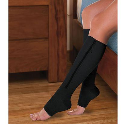 Obrázek Kompresní punčochy Zip Sox - černé