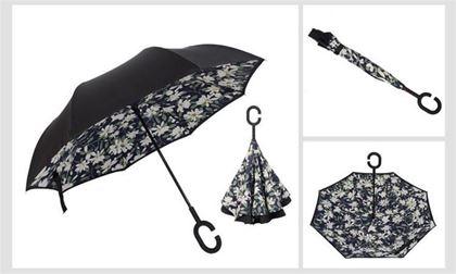 Obrázek z Obrácený deštník - bílé květy