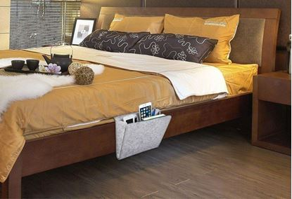 Obrázek Organizér na postel - šedivý