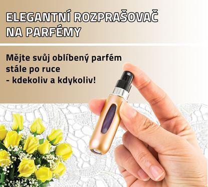 Obrázek Elegantní rozprašovač na parfémy - zlatý