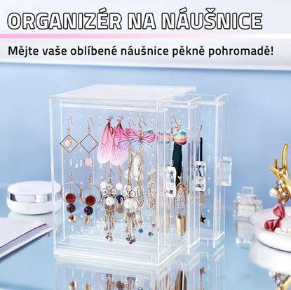 Obrázek Průhledný organizér na náušnice