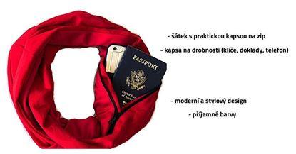 Obrázek Šátek s kapsou