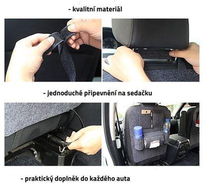 Obrázek Pořadač na sedačku do auta