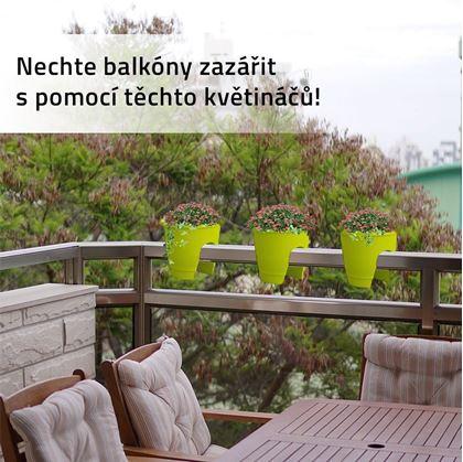 Obrázek z Květináč na zábradlí - zelený