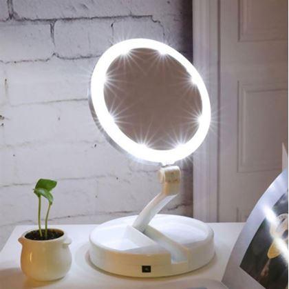 Obrázek z Přenosné podsvícené zrcátko
