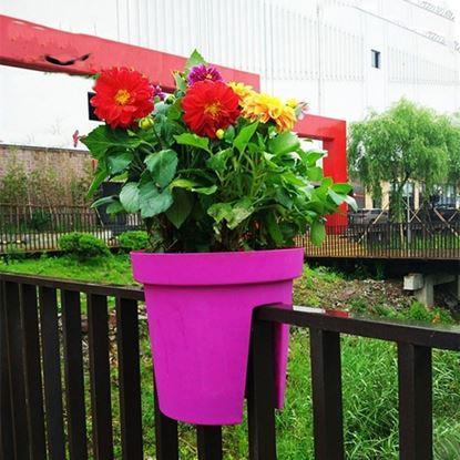 Obrázek Květináč na zábradlí - fialový