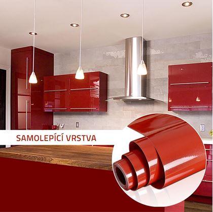 Obrázek z Fólie na obnovu kuchyňské linky - červená