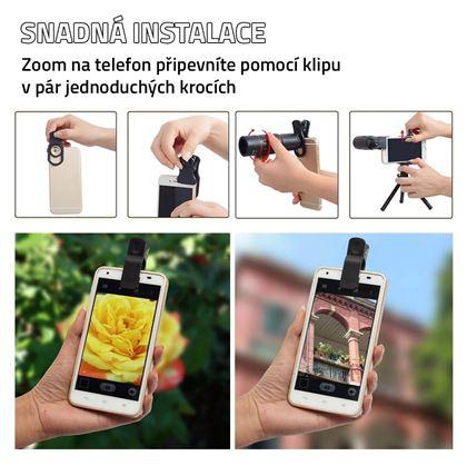 Obrázek z Zoom objektiv na telefon