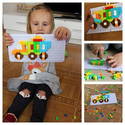 Obrázek Mozaiková stavebnice - auta