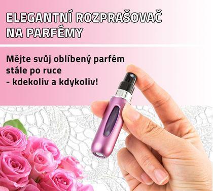 Obrázek z Elegantní rozprašovač na parfémy - růžový 5 ks