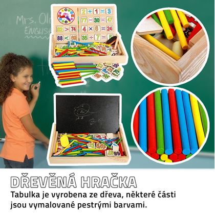 Obrázek z Dřevěná vzdělávací tabulka