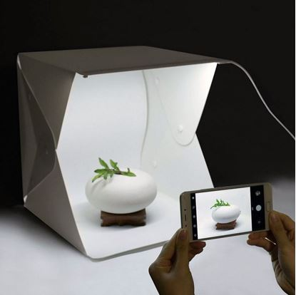 Obrázek Mini fotobox s LED osvětlením