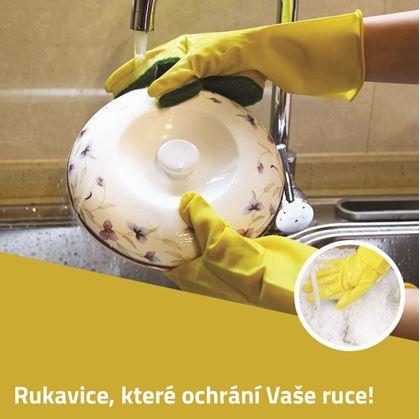 Obrázek z Rukavice na nádobí s houbičkou