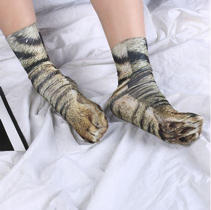 Vtipné ponožky zvířecí tlapky