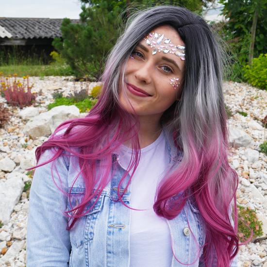 Obrázek z Nalepovací kamínky na obličej - růžové
