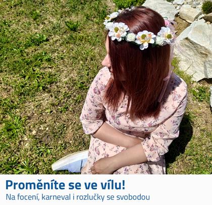 Květinová čelenka do vlasů