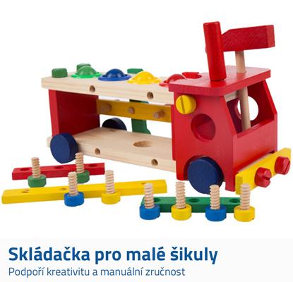 Dřevěné hračky auto
