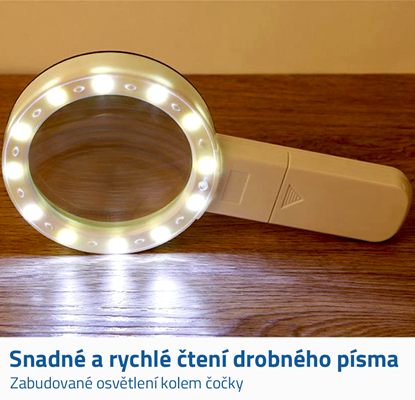 lupa s osvětlením