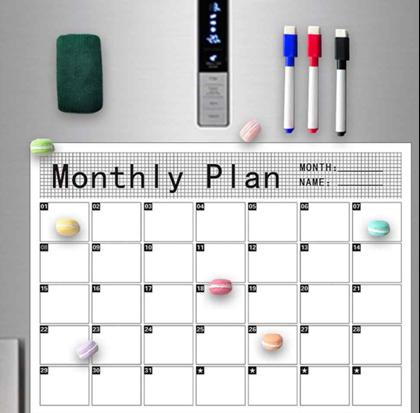 Magnetický kalendář na lednici