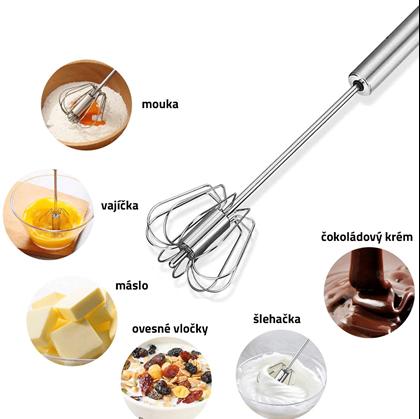 mouka, vejce, máslo, šlehačka